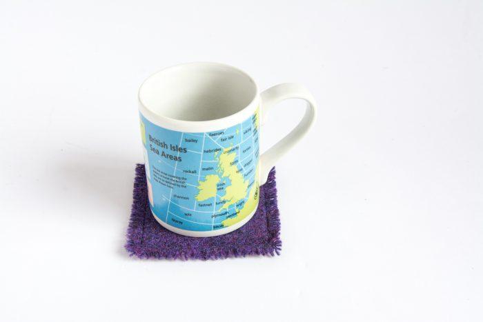 harris tweed purple coasters
