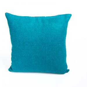 harris tweed turquoise check cushion cover