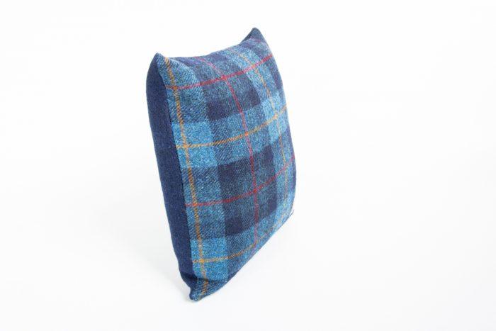 harris tweed navy check cushion cover