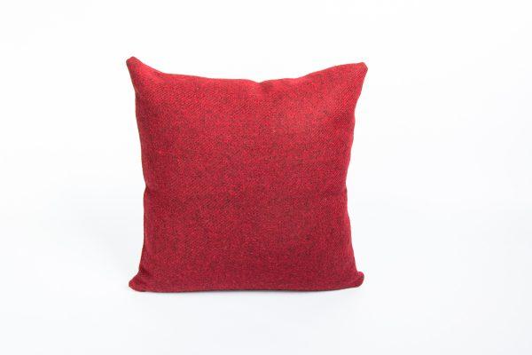 harris tweed red herringbone cushion cover