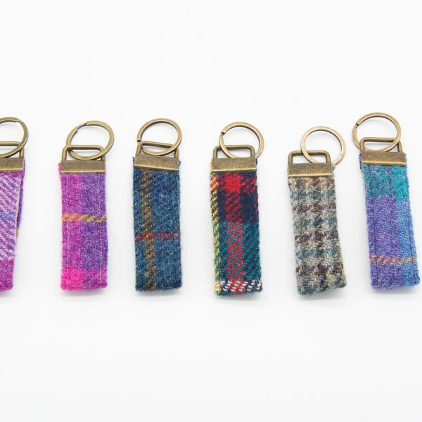 Mix Harris Tweed key rings