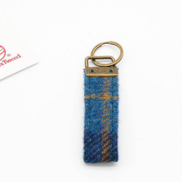 Harris Tweed keyring navy check