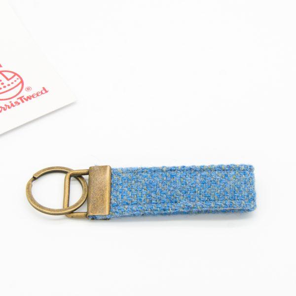 Harris Tweed keyring light blue