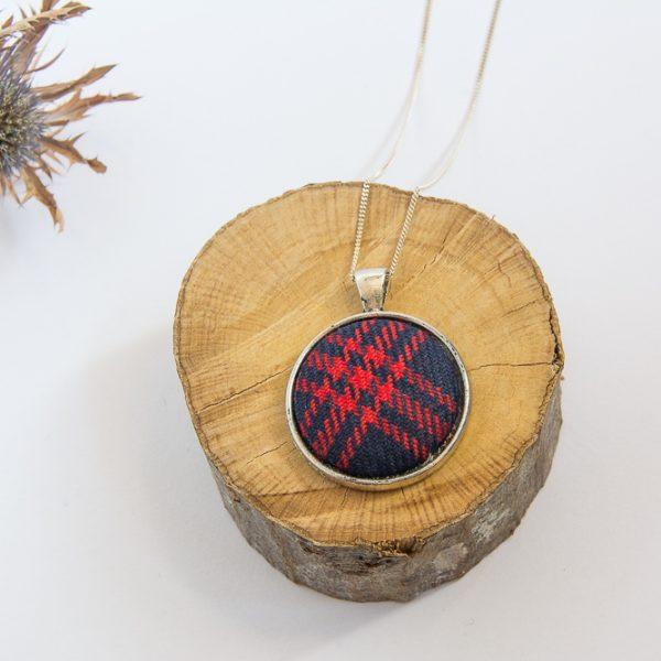 Angus tartan necklace