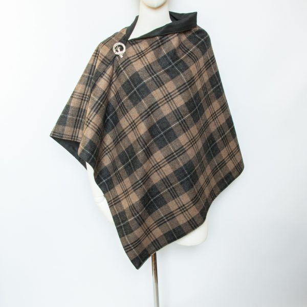 Tweed and tartan ponchos