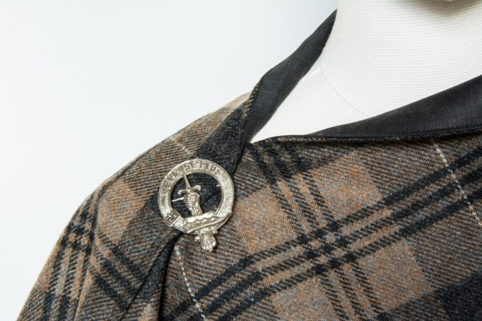Yorkshire tweed poncho