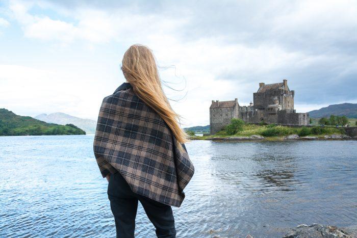 Scottish tweed cape