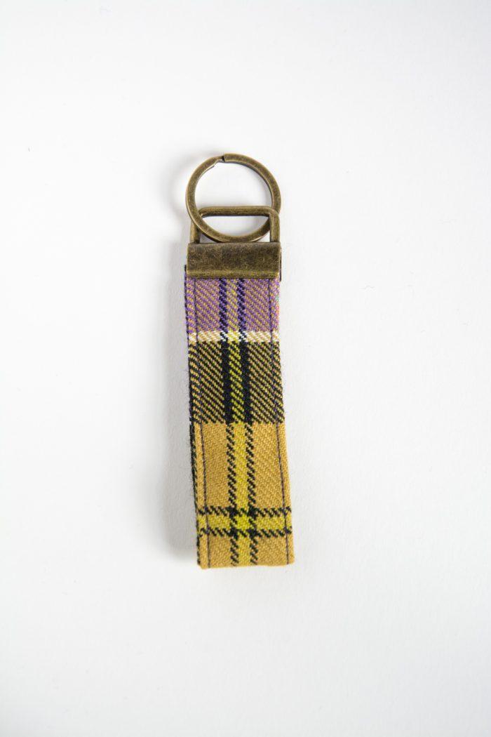 Culloden tartan key ring