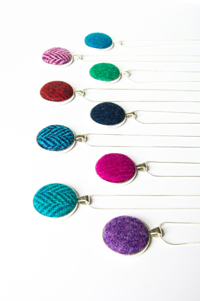 Harris Tweed necklace collection