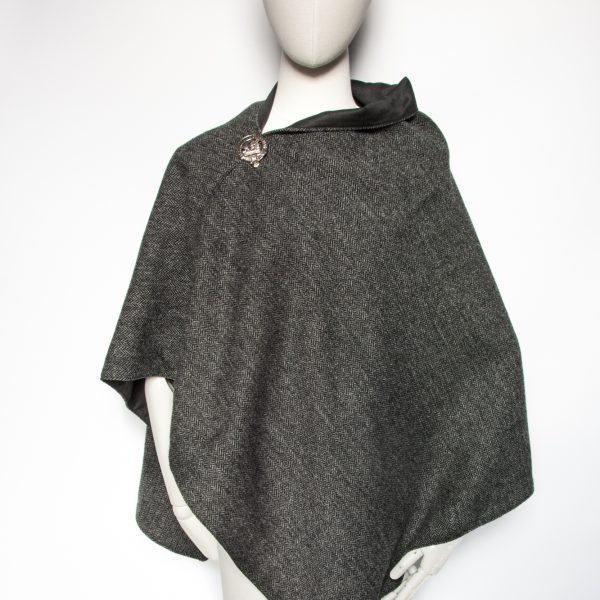 Scottish lambswool poncho