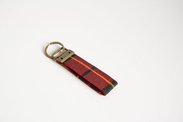 MacQueen tartan key ring