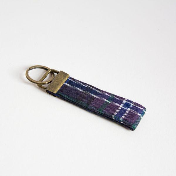 scotland forever tartan key ring