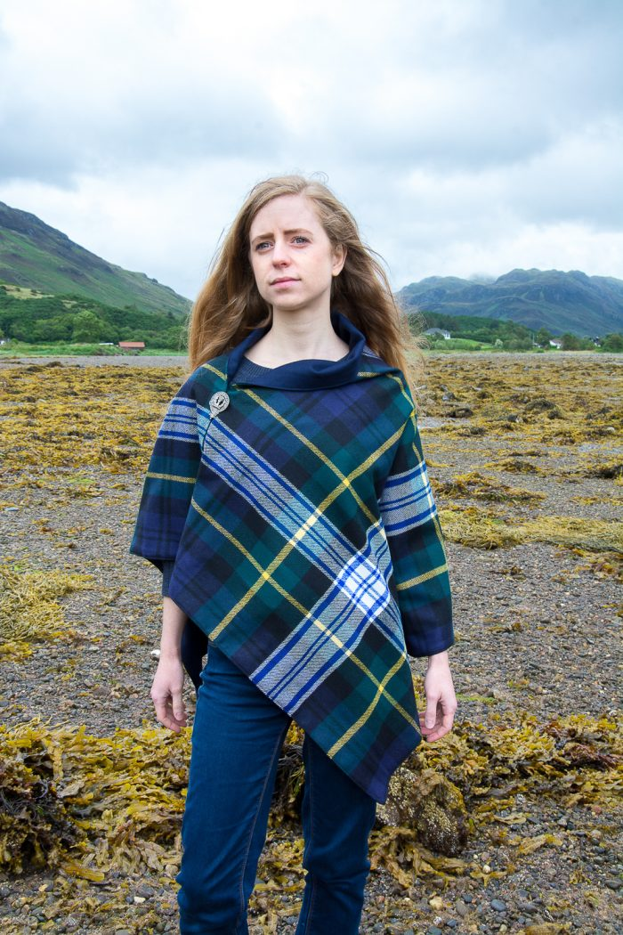 Scottish wool cape