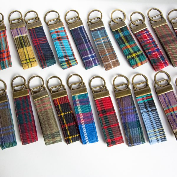scottish tartan keyrings