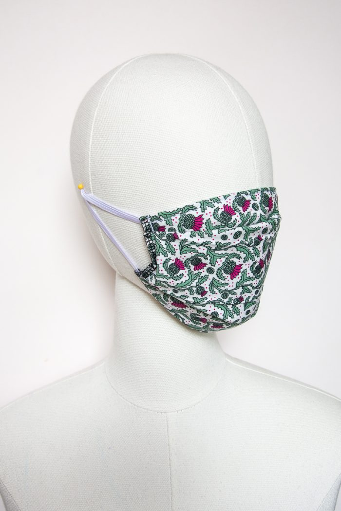 thistle print face mask