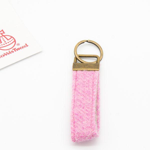Harris Tweed keyring light pink