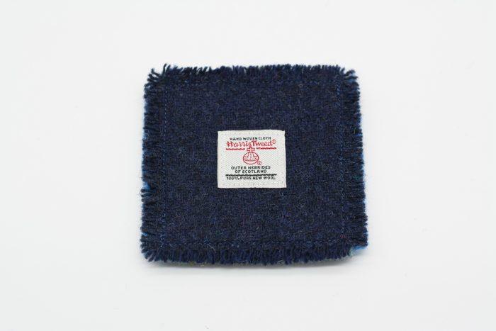 Plain blue Harris Tweed Coasters (limited edition)
