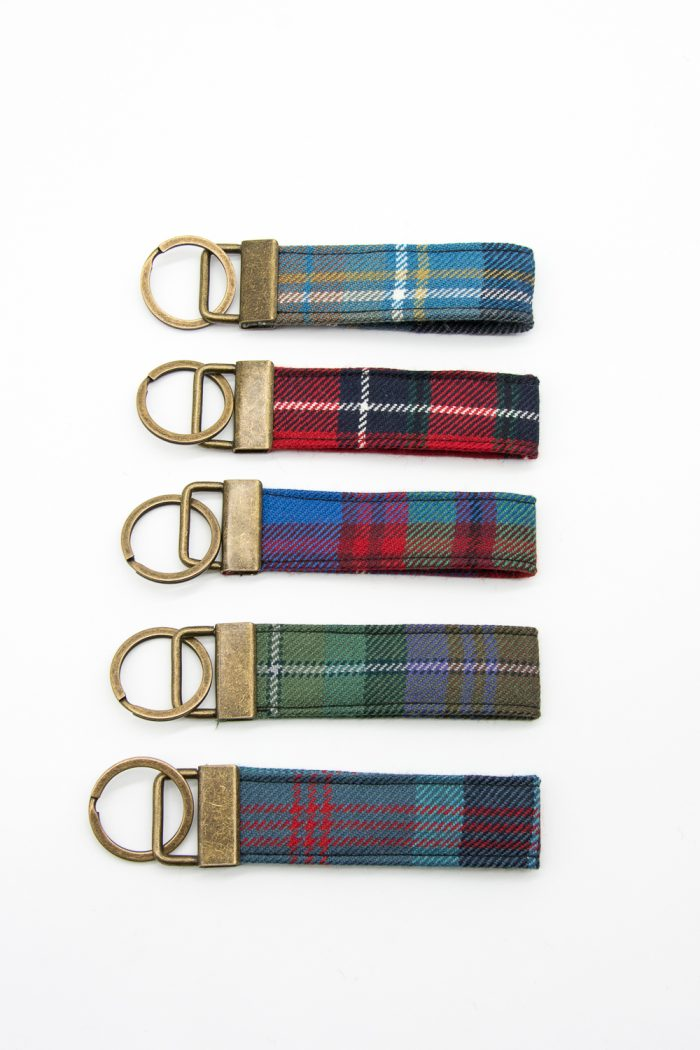 district tartan keyrings
