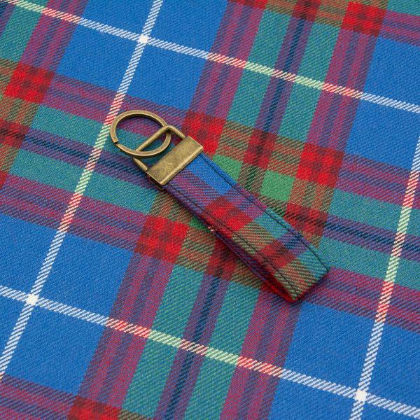 Edinburgh tartan keyring