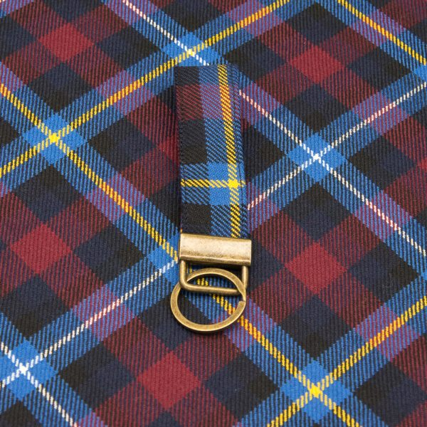 Highland Titles tartan key ring