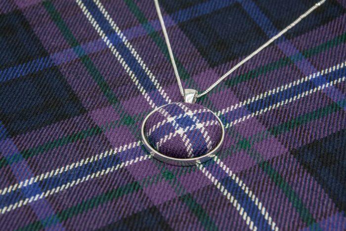 Scotland forever tartan necklace