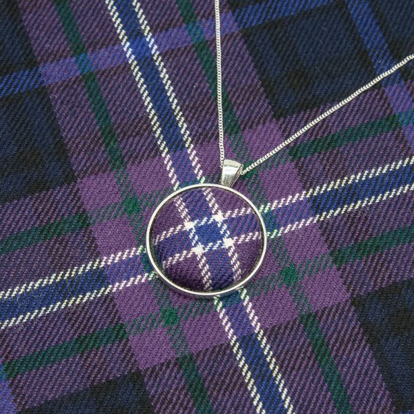Scotland forever tartan necklace