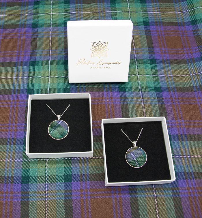 Isle of Skye tartan necklace