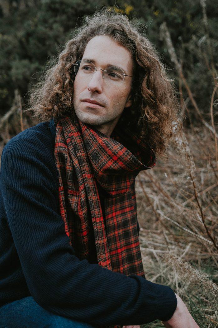 Highland peat tartan scarf