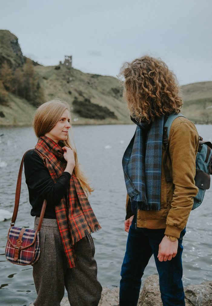Rivers of Scotland tartan scarf