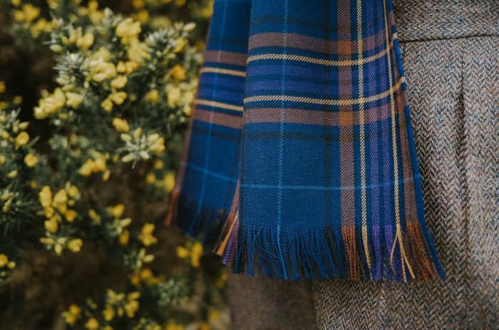 Wild Heather tartan scarf
