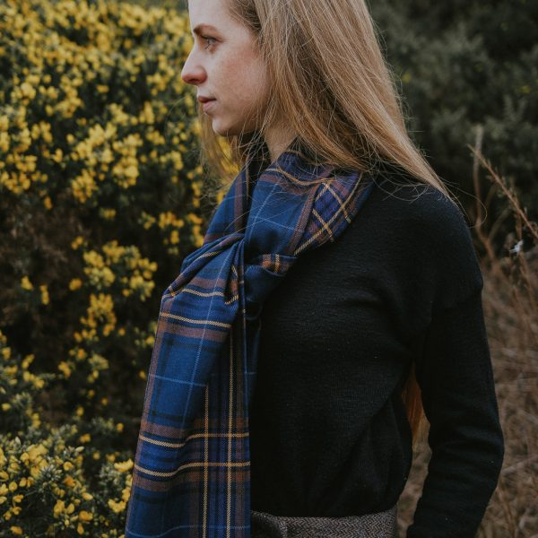 Wild Heather tartan scarf