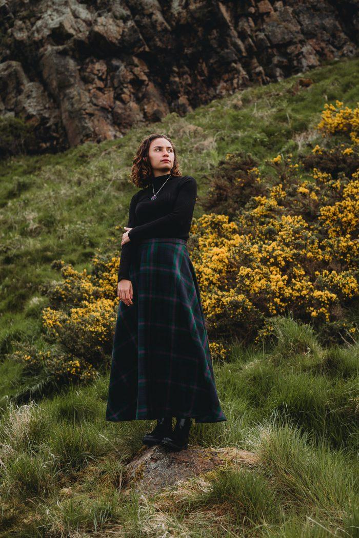 Baird tartan maxi skirt