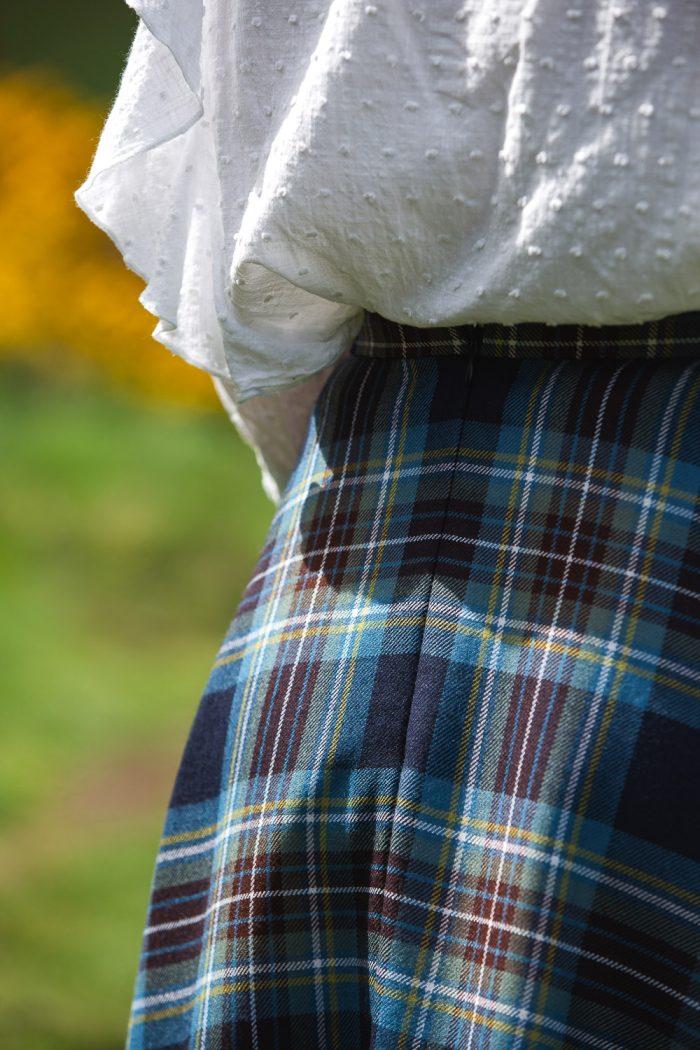 Holyrood tartan maxi skirt