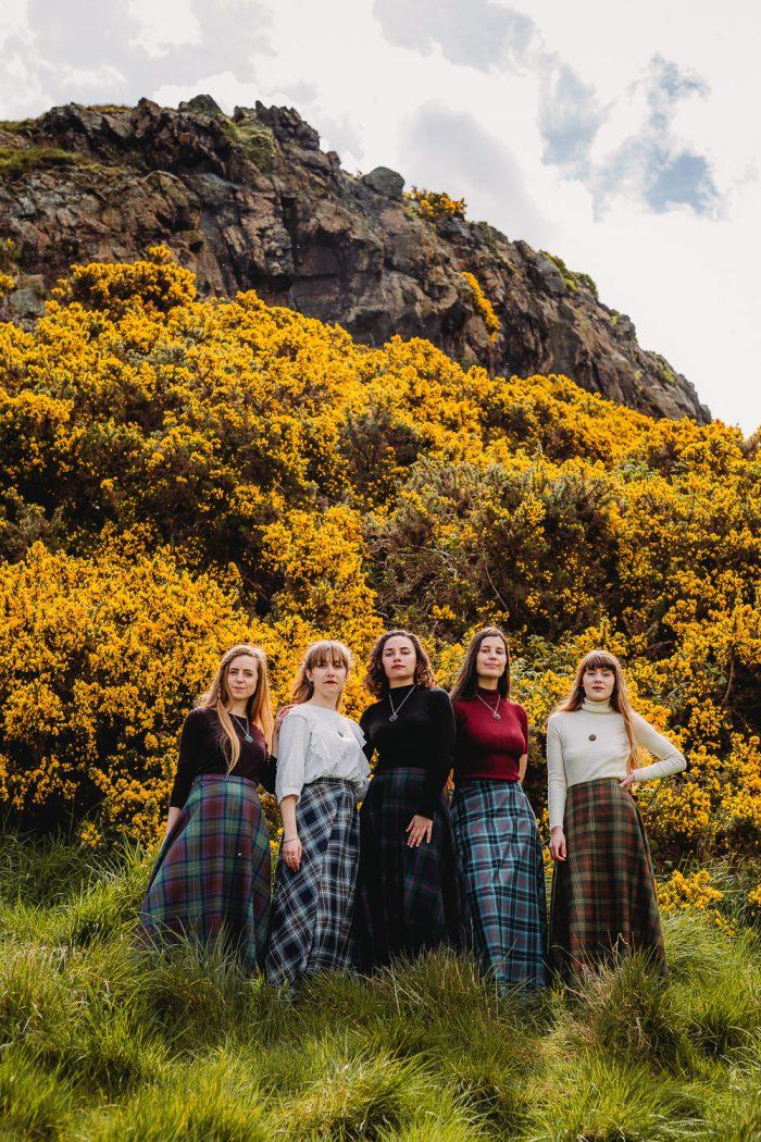 Scottish tartan maxi skirts