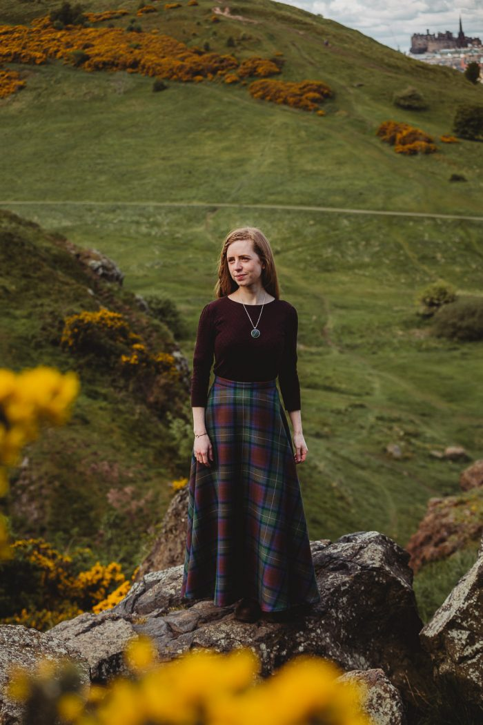 Isle of Skye tartan maxi skirt