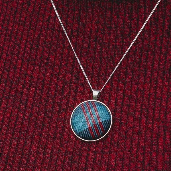 Loch Ness tartan necklace