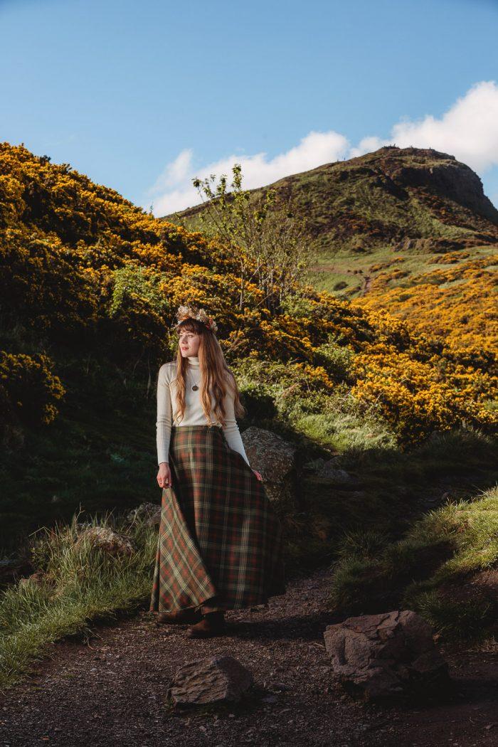Ross tartan maxi Skirt